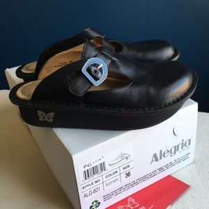 Alegria black leather shoes size 36
